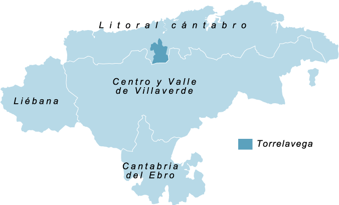 mapa de cantabria POR ZONAS