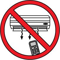 señal roja, prohibido, dibujo de un aparato de aire acondicionado