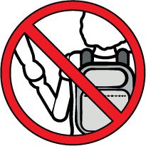 señal roja, prohibido, dibujo de un niño o niña con cartera que va de la mano de un adulto